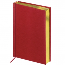 Ежедневник BRAUBERG недатированный, А5, 138х213 мм, 'Iguana', под змеиную кожу, 160 л., бордовый, кремовый блок, золотой срез, 125092