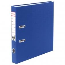 Папка-регистратор BRAUBERG с покрытием из ПВХ, 50 мм, синяя удвоенный срок службы, 220888