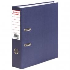 Папка-регистратор BRAUBERG 'ECO', 80 мм, синяя, 221396