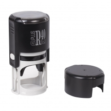 Оснастка для печатей, оттиск D=40 мм синий, GRM R40 plus, корпус черный, крышка