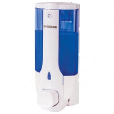 Диспенсер для жидкого мыла ЛАЙМА, наливной, 0,38 л, ABS-пластик, белый тонированный, 603921
